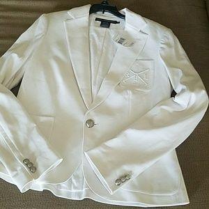 Ralph Lauren Sport ladies jacket all white new.